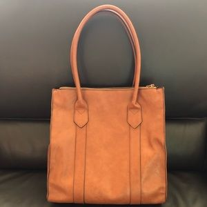 Bags - Brown faux leather tote bag